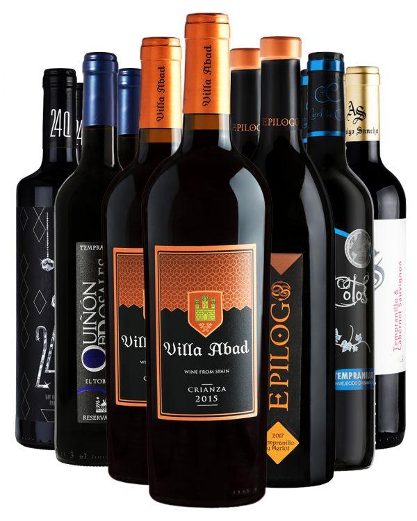 ארגז יין - 12 אדומים מיושנים