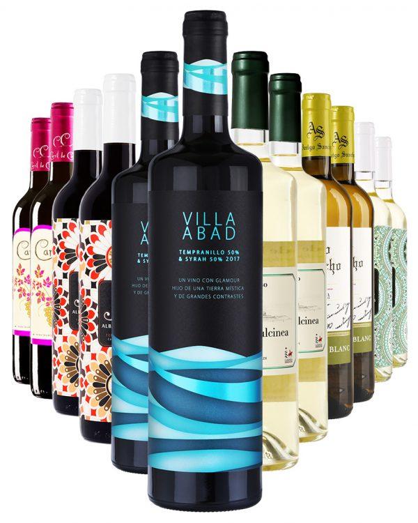 ארגז יין - 12 בקבוקים מיקס אדום ולבן קל